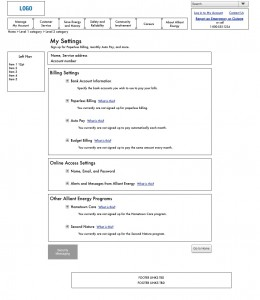 Example of a high fidelity wireframe